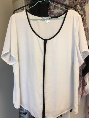 Weißes Shirt mit schwarzer Bordüre