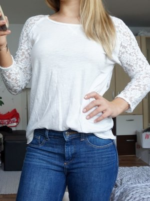 H&M Boatneck Shirt white