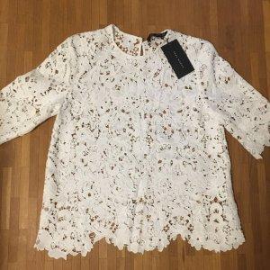 Zara Haut blanc coton