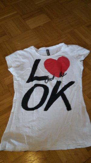 weißes Shirt mit süsem Druck