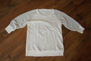 weißes Shirt mit transparenten Ärmeln
