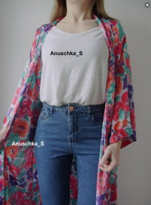 H&M Oversized Shirt multicolored linen