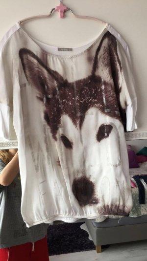 Weißes Shirt mit Wolf Aufdruck
