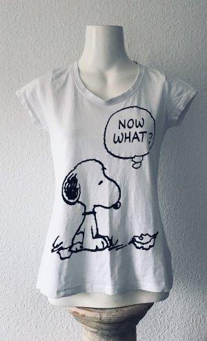 Camiseta estampada blanco-negro