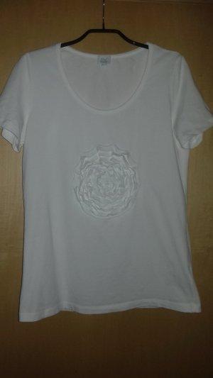 Weißes Shirt von ALBA MODA Gr. 40