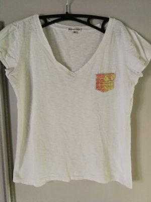 Best mountain Camicia bianco-rosso lampone Cotone
