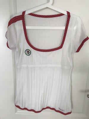 Blutsgeschwister Shirt white-dark red
