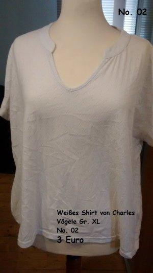 Weißes Shirt von Charles Vögele Gr. XL