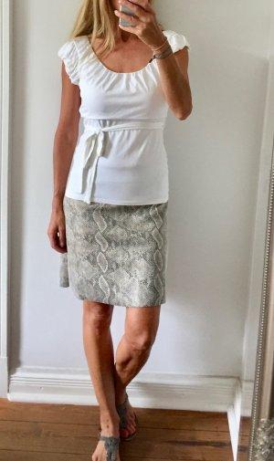 weißes Shirt von COMMA mit Gürtel * figurbetont * Gr. 38