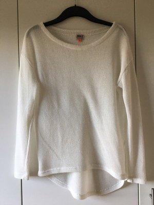 Only Top en maille crochet blanc