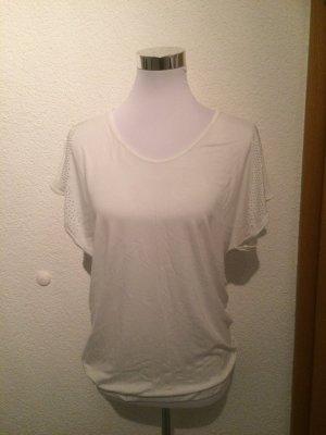 weißes Shirt von Only mit Glitzersteinen - Gr. S