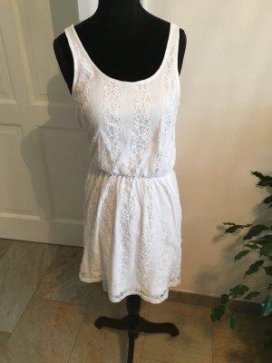 Weißes Sommer Kleid mit Spitze Größe 36