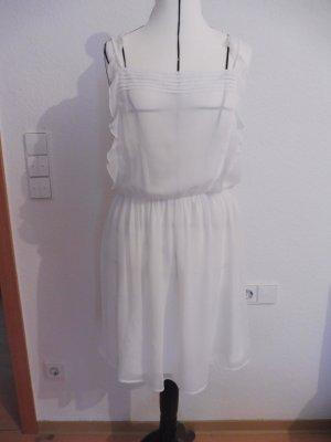 Zara Trafaluc Chiffon jurk wit