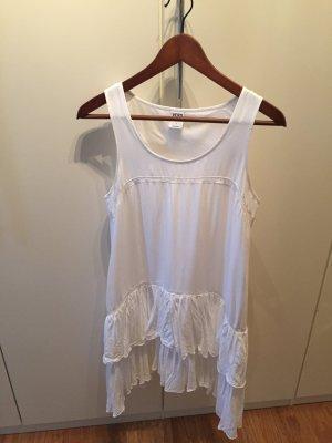 Vero Moda Vestido con flecos blanco