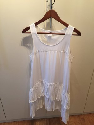 Vero Moda Fringed Dress white