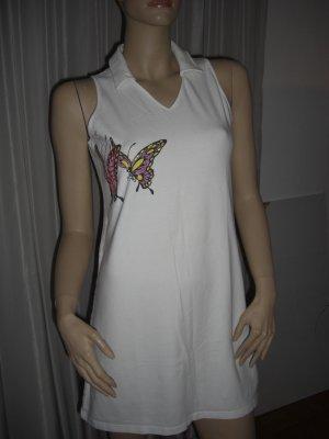 Weißes Sommerkleid Gr 42 MADELENE Pailletten Schmetteling