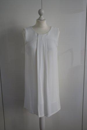 Weißes Sommerkleid mit Schleife, Massimo Dutti