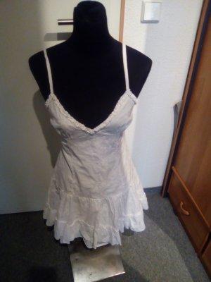 weißes Sommerkleid - mit Spaghetti-Trägern und Reißverschluss - Größe S - Melrose