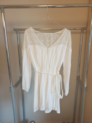 Abercrombie & Fitch Longsleeve Dress white