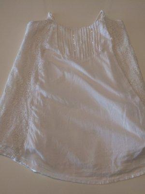 Weißes Sommerkleid/Sommertop von hollister