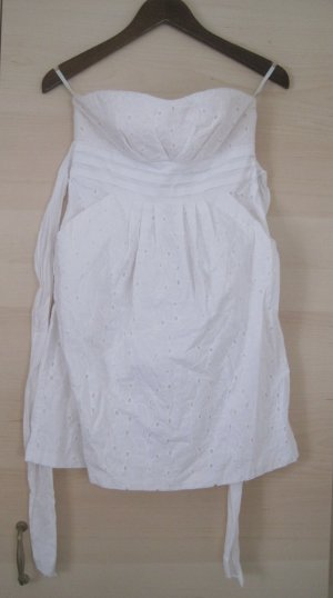 Weisses Sommerkleid, Trägerlos