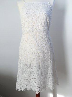weißes Sommerkleid von Even&Odd Gr. 36  Ajourmuster,  Spitze