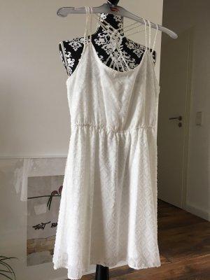 Review Vestido de cuello Halter blanco puro
