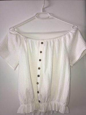 Cropped Shirt white-grey brown