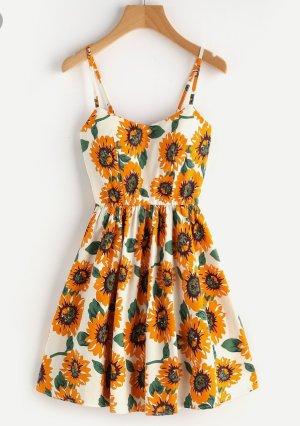 Weißes Sonnenblumenkleid