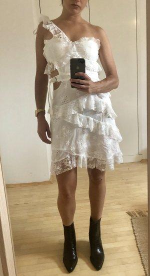 Weisses Spitze Minikleid