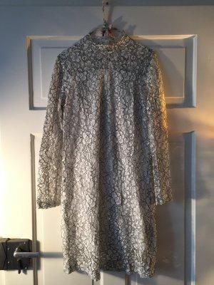 Minimum Robe en dentelle blanc-noir