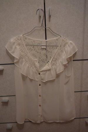Weißes Spitzen Tshirt