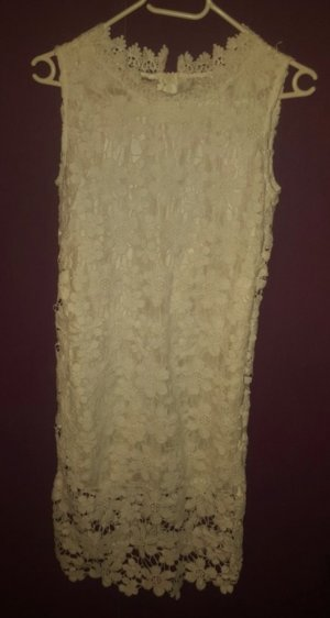 Sheinside Lace Dress white-oatmeal