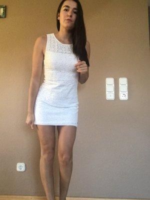 Abercrombie & Fitch Lace Dress white
