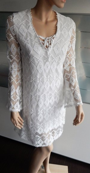 Edited x Lena Terlutter Lace Dress white