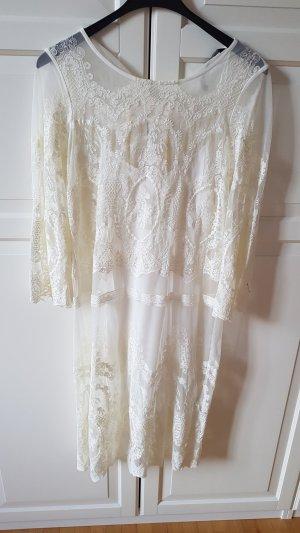 Zara Lace Dress white-natural white