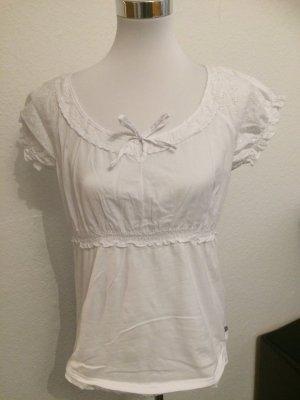 weißes Spitzenoberteil, Spitzenshirt, Shirt mit Spitze von Street One - Gr. 42