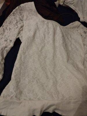weißes Spitzenoberteil von H&M