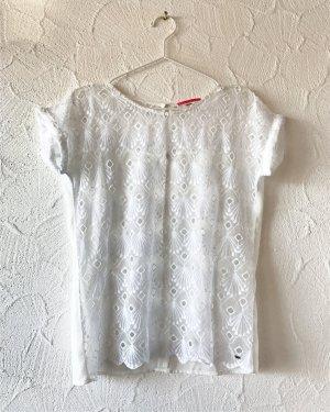 Weißes Spitzenshirt von edc