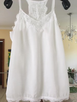 Made in Italy Top di merletto bianco