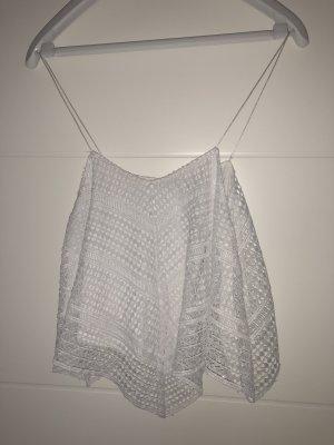 Weißes Spitzentop Zara