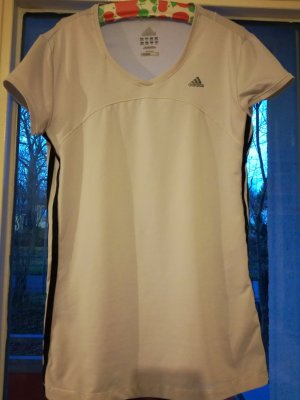 Weißes Sport-T-Shirt von Adidas 'Clima Cool'