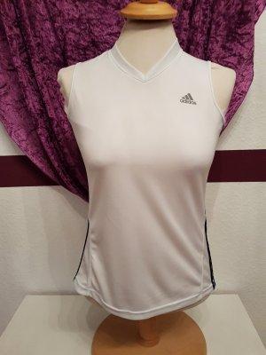 weißes Sport Top Fitness Shirt Adidas clima cool Gr. M