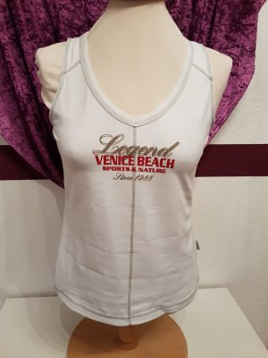 weißes Sport Top Fitness Shirt Venice Beach Gr. M/L