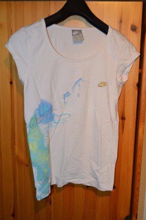 weißes Sportshirt von Nike mit Stickereien