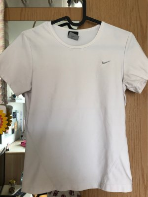 Nike Sports Shirt white-silver-colored