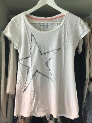 Weißes Stern t Shirt mit Nieten von Esprit