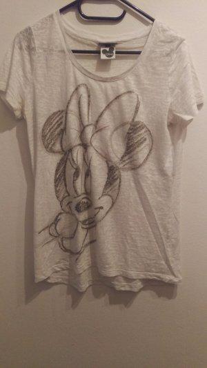Weißes Street One Disney Shirt mit Minnie Mouse in Größe 40