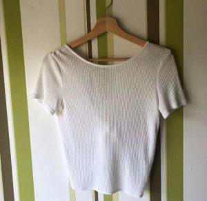 Weisses Strickshirt mit offenem Rücken von H&M