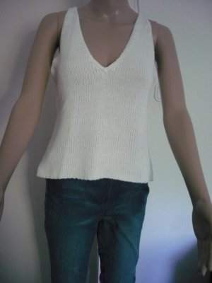 Laura Scott Top lavorato a maglia bianco